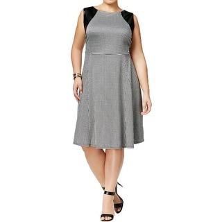 NY Collection Womens Plus Cocktail Dress Pattern Fit & Flare