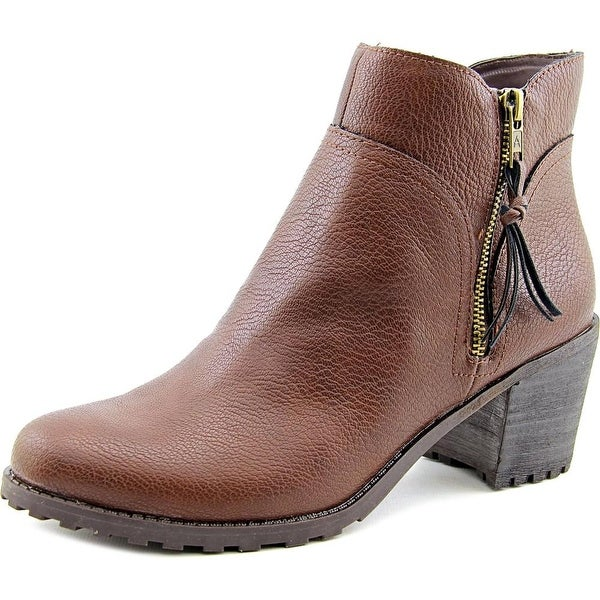 Aerosoles Convincing Women Round Toe Synthetic Brown Ankle Boot