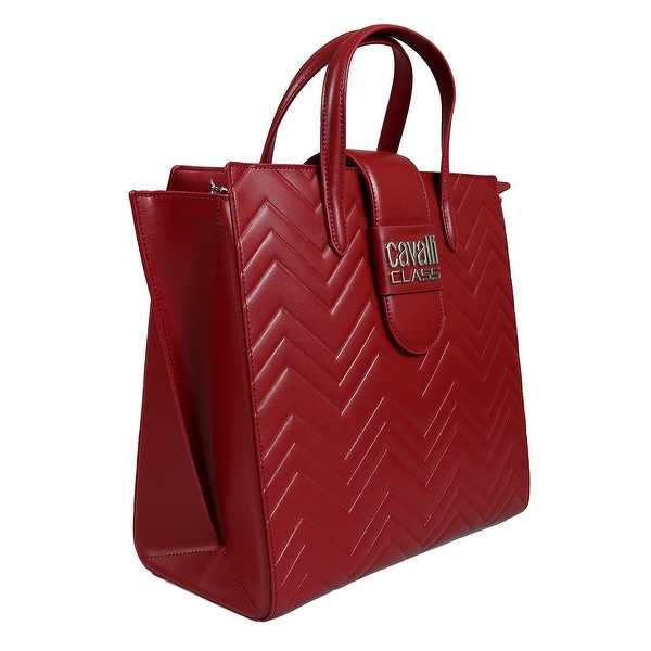904033167 Shop Roberto Cavalli HXLPEM 060 Red Tote Bag - 12-10.75-6 - Free ...
