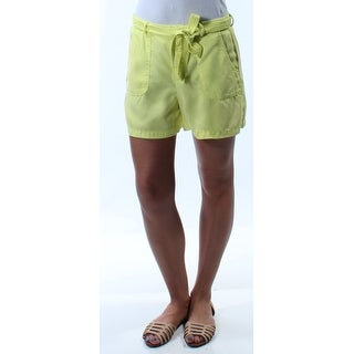 KIIND OF $59 Womens New 1264 Yellow Belted Pocketed Bermuda Casual Short 2 B+B