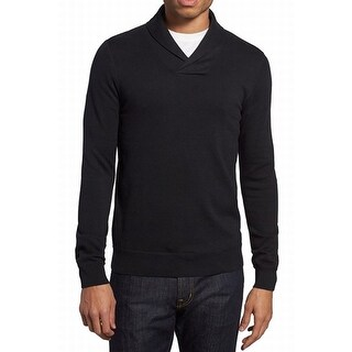 THE RAIL NORDSTROM NEW Solid Black Mens Size XL Shawl V-Neck Sweater