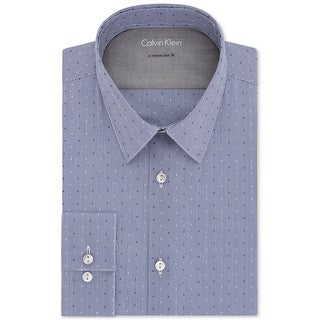 """Link to Calvin Klein Mens Stretch Dot Button Up Dress Shirt, blue, 17""""-17.5"""" Neck 36""""-37"""" Sleeve - 17""""-17.5"""" Neck 36""""-37"""" Sleeve Similar Items in Shirts"""