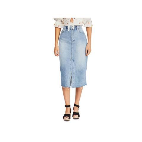 We The Free Womens Denim Skirt Denim Midi - Blue