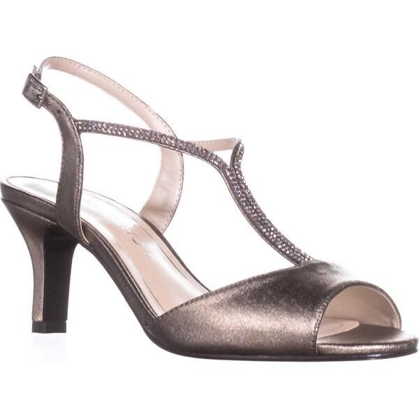 Caparros Delicia Sparkle T-Strap Peep Toe Dress Sandals, Mushroom