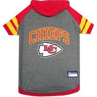Kansas City Chiefs Pet Hoodie T-Shirt - Medium