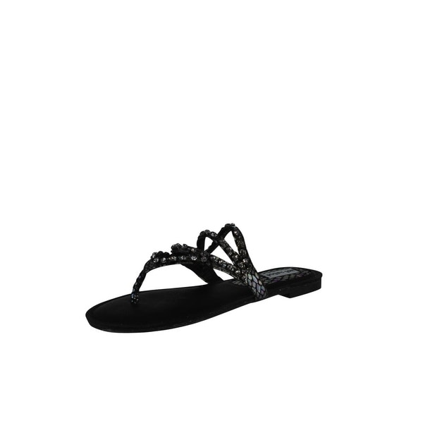 Not Rated Women's Sunnyland Thong Sandal - Black - 7.5 b(m) us