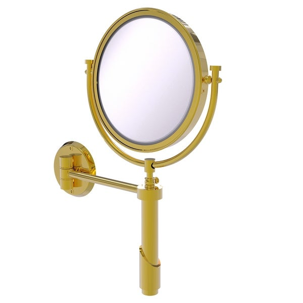 Allied Brass Tribecca Collection Wall Mounted Make-Up Mirror 8-in Diameter with 4X Magnification