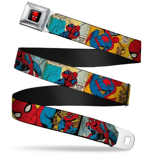 Marvel Comics Spider Man Full Color Spider Man Comic Strip Webbing Seatbelt Seatbelt Belt