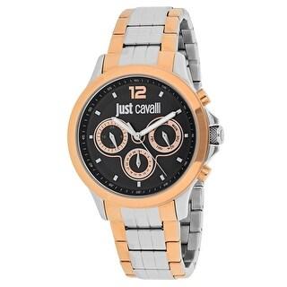 Just Cavalli Men's Just Iron 7253596001 Black Dial Watch