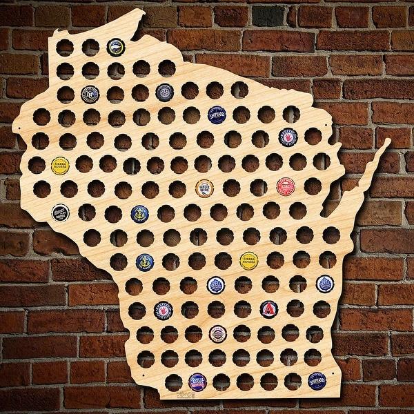 Giant XL Wisconsin Beer Cap Map