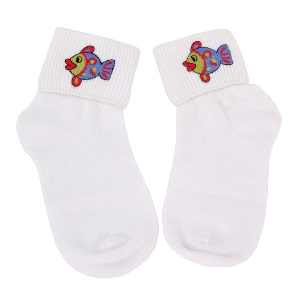 Curious and Cute Fish Bobby Socks for Girls
