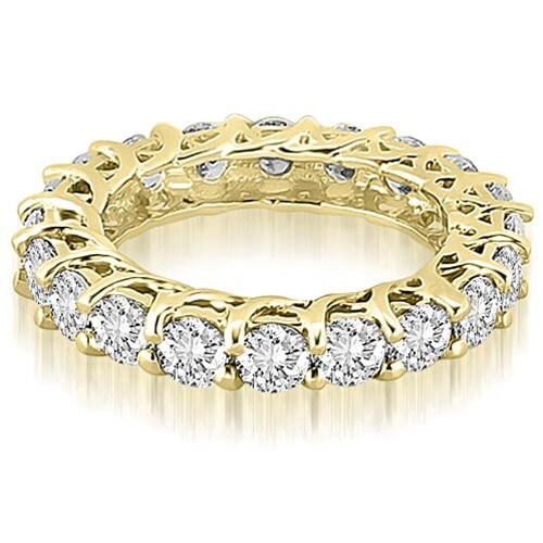 14K Yellow Gold 5.10 cttw. Round Diamond Eternity Ring HI,SI1-2