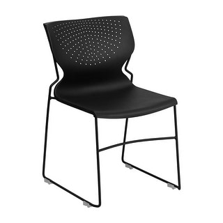 Offex HERCULES Series 661 lb Capacity Black Full Back Stack Chair with Black Frame [OF-RUT-438-BK-GG]