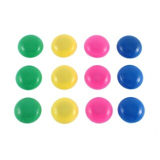 12 Pcs Multicolor 20mm Dia Fridge Refrigerator Magnets Paper Holder