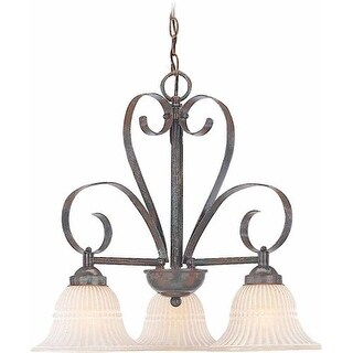 Volume Lighting V3323 Florentia 3 Light 1 Tier Chandelier with Scavo Glass Bell
