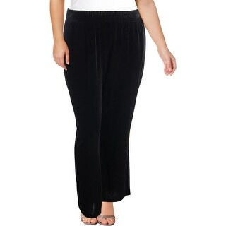Rafaella Womens Plus Lounge Pants Velvet Comfort