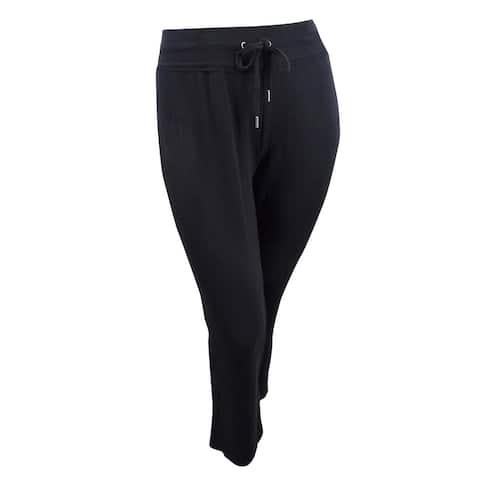 Style & Co. Women's Plus Size High-Rise Boot-Cut Sweatpants - Deep Black