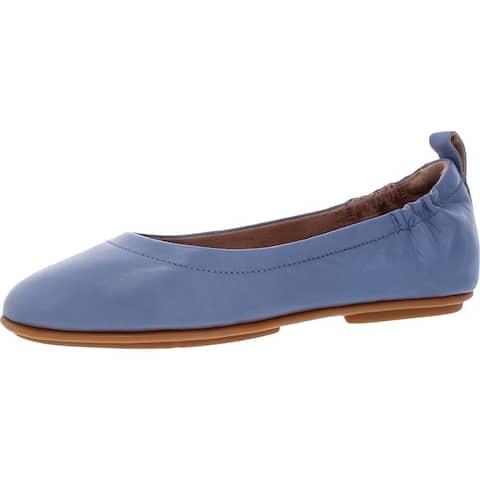 FitFlop Women's Allegro Leather Slim Fit Slip-On Ballet Flats