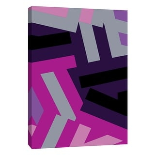 "PTM Images 9-108757  PTM Canvas Collection 10"" x 8"" - ""Monochrome Patterns 1 in Purple"" Giclee Abstract Art Print on Canvas"