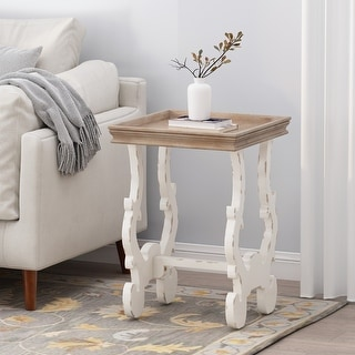 Link to Lonedell French Country Accent Table with Square Top by Christopher Knight Home Similar Items in Living Room Furniture
