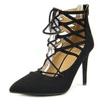 Material Girl Pronto Women Black Pumps