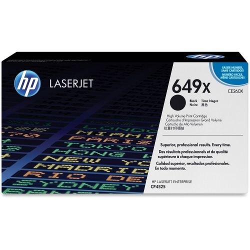 HP 649X High Yield Black Original LaserJet Toner Cartridge (CE260X)(Single Pack)