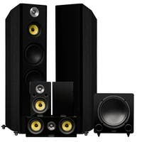 Fluance Signature Series Surround Sound Home Theater 5.1 Channel System - Black Ash (HF51BR)
