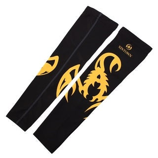 XINTOWN Authorized Sports Elbow Brace Biking Arm Sleeves Support Yellow S Pair