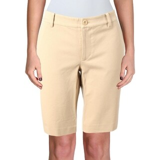 Lauren Ralph Lauren Womens Shorts Flat Front Stretch