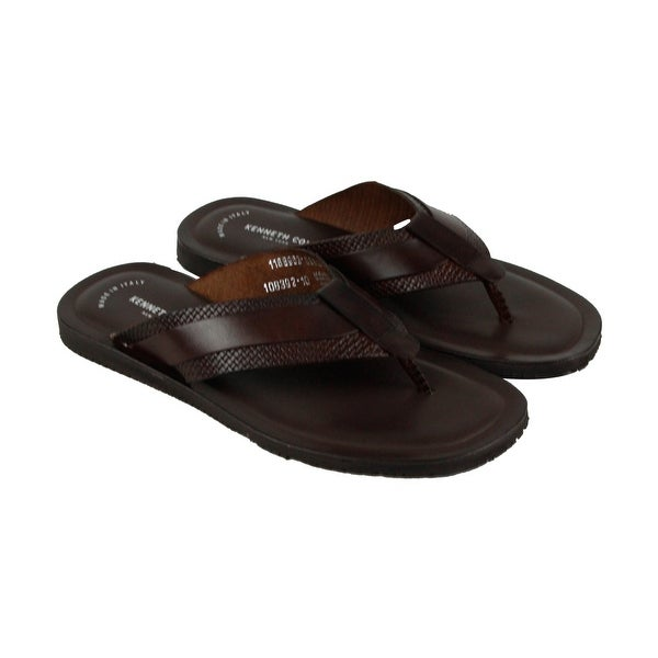 Kenneth Cole New York Design 108392 Mens Brown Flip Flops Sandals Shoes