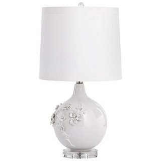 Cyan Design Leandra Table Lamp Leandra 1 Light Accent Table Lamp with White Shade