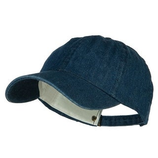 Mega Cap Cotton Denim Baseball Cap (Navy)