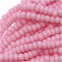 Czech Seed Beads Size 11/0 Lilac Pink Opaque (1 Hank)