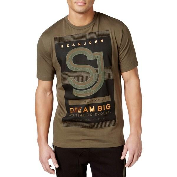 db3a2fefd78 Shop Sean John Mens T-Shirt Graphic Crew Neck - Ships To Canada ...