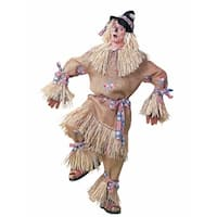 Deluxe Scarecrow Halloween Costume for Adults - standard - one size