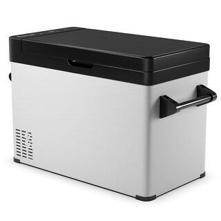 Costway 53 Quarts Portable Electric Car Cooler Refrigerator Freezer Compressor Camping