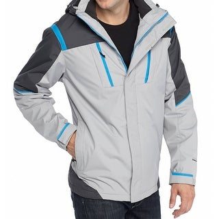 Weatherproof NEW Gray Mens Size Medium M Hydro-Tech Performance Jacket