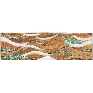 Link to Elsa Mosaic Glass Inlay Wooden 42x13-inch Wall Panel Similar Items in Wood Wall Art