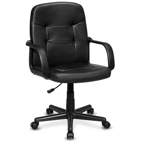 Costway Ergonomic Mid-Back Executive Office Chair Swivel Computer Desk
