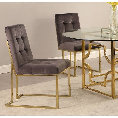 Silver Orchid Pagay Upholstered Dining Side Chairs (Set of 2)