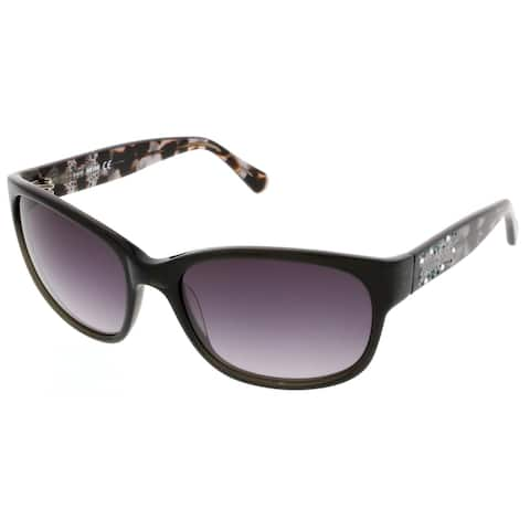 Just Cavalli JC 496S/S 20B Black/Havana Rectangle Sunglasses - 59-18-130