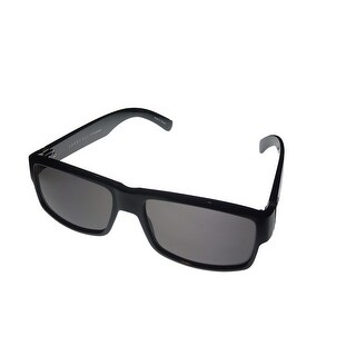 Perry Ellis Mens Sunglass PE28 1 Black Plastic Rectangle with Smoke Lens - Medium