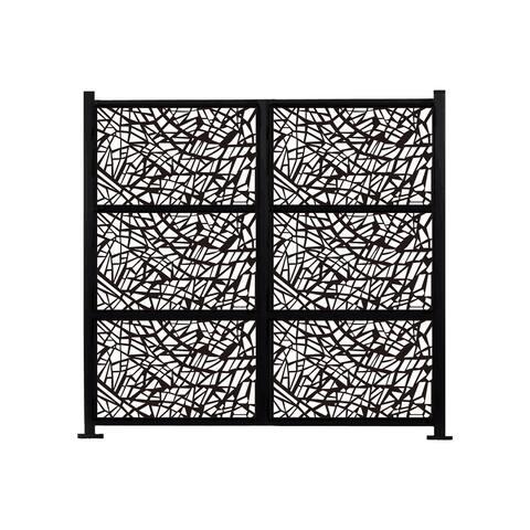 HighlanderHome Freestanding Modular Metal Privacy Screen, 6FtX 8Ft