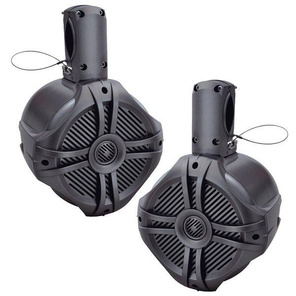 "Power Acoustik Marine 6.5"" Wake Tower Speaker Titanium (Pair)"