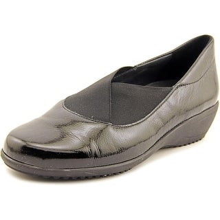 Ara Lael Women Round Toe Patent Leather Black Loafer
