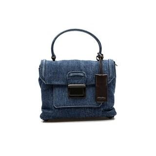 MIU MIU Women's Denim Flap Crossbody Shoulder Bag Handbag Purse Satchel Blue - S