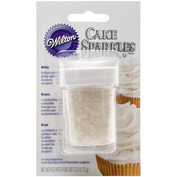 Cake Sparkles .25oz-White - White