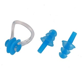 Pool Soft Silicone Ear Plugs Nose Clip Swimming Tool Blue Set