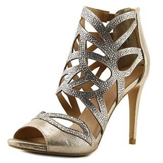 Thalia Sodi Serena Women Open Toe Canvas Gold Sandals