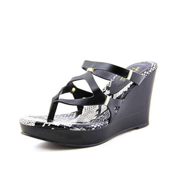 Thalia Sodi Luz Women Black Snake Sandals